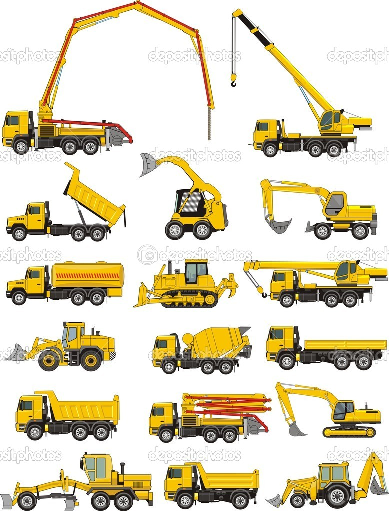 Set of a  building machines  Stock Vector #5601191