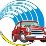 Car wash sign — Stock Vector