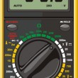Stock Vector: Multimeter