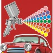 Stock Vector: Car paint