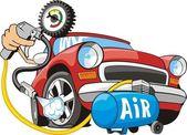 Air for wheel — Stock Vector
