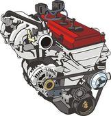 Car engine — Stock Vector
