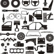 Stock Vector: Car detail set