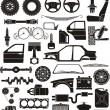 Car detail set — Stock Vector