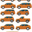 Stock Vector: Car set