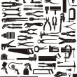 Stock Vector: Tool set