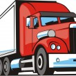 Stock Vector: Heavy cargo truck
