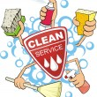 Clean service sign - Stock Vector