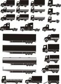 Truck set — Stockvector