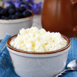 Stock Photo: Fresh, natural cottage cheese dairy product