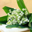 Royalty-Free Stock Photo: Lovely bunch of lily of the valley on a stone background