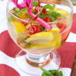 Royalty-Free Stock Photo: Summer drink sangria with fruit in a large glass