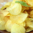 Pile of ruffled potato chips — Stock Photo