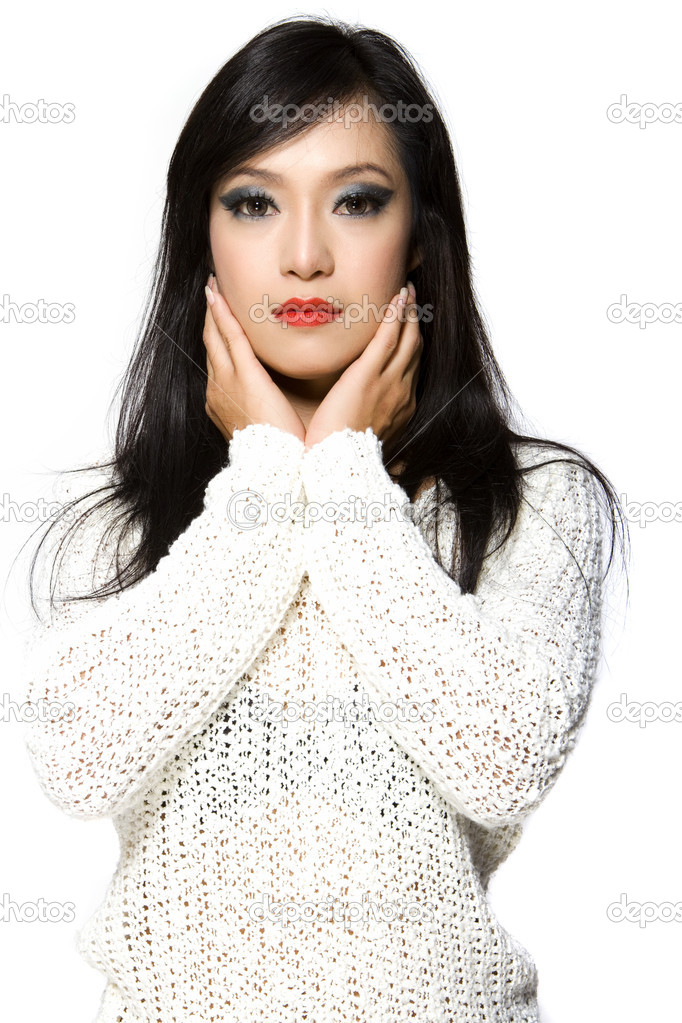 Asian Thailand young woman beauty posting — Stock Photo #6094912
