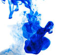 Blue ink drop — Stock Photo