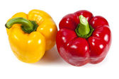 Red and yellow bell pepper — Stock Photo