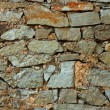 Multicolor stones wall — Stock Photo
