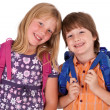 Stock Photo: Kids posing for back to school