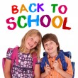 Kids posing for back to school - Stock Photo