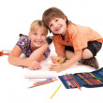 představují pro děti zpět do školy téma — Stock fotografie