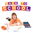 Boy posing for back to school theme — Stock Photo