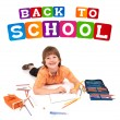 Boy posing for back to school theme - Stock Photo