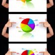 Hand pointing to dimensional chart collection — Stock Photo #5389871