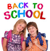 Kids posing for back to school — Stock Photo