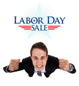 Businessman Labor Day Sale — Stock Photo