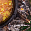 Outdoors cooked stew — Stock Photo