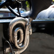 Vintage car horn - Stock Photo