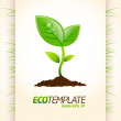 Green eco template 2 — Stock Vector