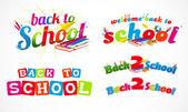 回学校的版式标头集合 1 — 图库矢量图片