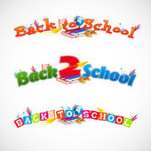 Back to school typography header collection 2 — Stock Vector