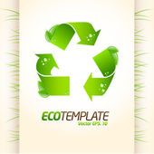 Green eco template 1 — Stock Vector
