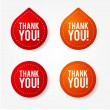 Colorful thank you badges and stickers - Stok Vektr