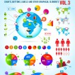Colorful infographic vector collection with charts — Stock Vector #6347054