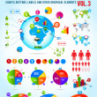 Colorful infographic vector collection with charts - Stock Vector