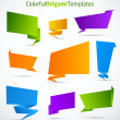 Colorful origami vector templates — Stock Vector #6347151