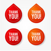Colorful thank you badges and stickers — Stock Vector