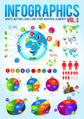 Colorful infographic vector collection with charts — Stock Vector