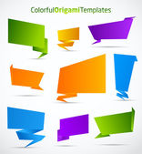 Colorful origami vector templates — Stock Vector