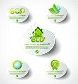 Eco sticker collection 2 — Stock Vector