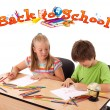 Kids with back to school theme isolated on white — Stock Photo #6422186