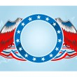 Fourth of july emblem — Vettoriale Stock #5597162