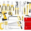 Hand work tools set - Stockvectorbeeld