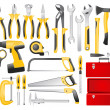 Hand work tools set — Image vectorielle