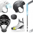 Hockey accessories — Stock Vector