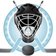 Hockey emblem — Stock Vector
