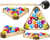 Pool rack (billiards) — Stock Vector